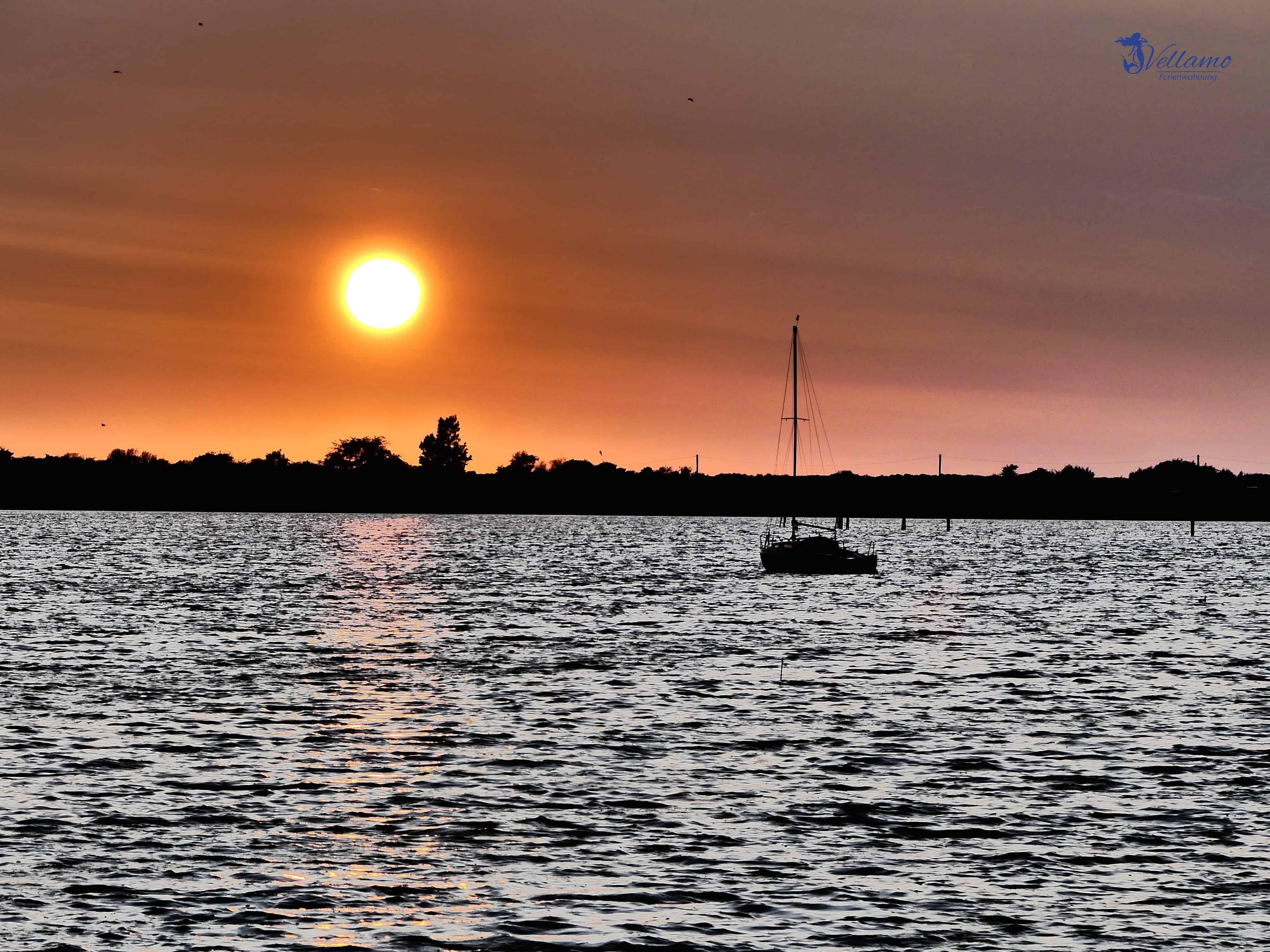 Impressionen Ostseebad Rerik - Sonnenuntergang über dem Haff